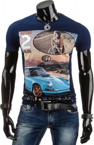 Tričko Lino tmavě modré - modrá