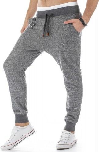 Kalhoty Bossa baggy šedé - šedá
