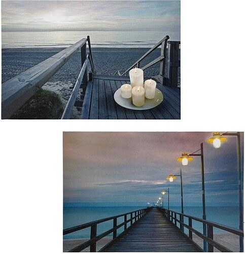 LED Leuchtbilder-Set, »Steg« (2tlg.)