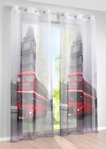 bpc living voilage londonbus pce illets blanc enfant bonprix with bon prix voilage. Black Bedroom Furniture Sets. Home Design Ideas