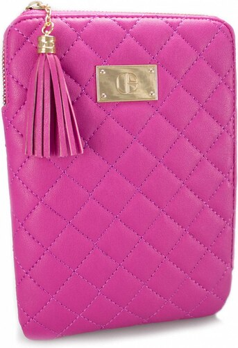 Alesha Quilted Faux Leather Zipper Pouch for iPad Mini