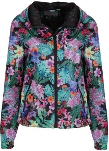dámská jarní trendy bunda s květinovým motivem S