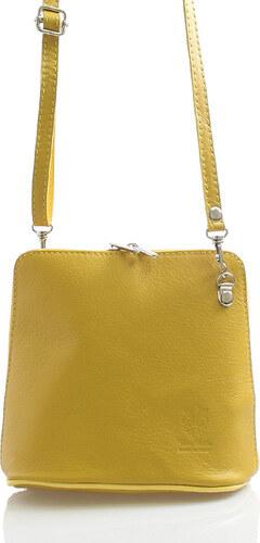 Horčicová dámska kožená crossbody kabelka - ItalY 10053 žltá - Glami.sk 1d6a619cf5f