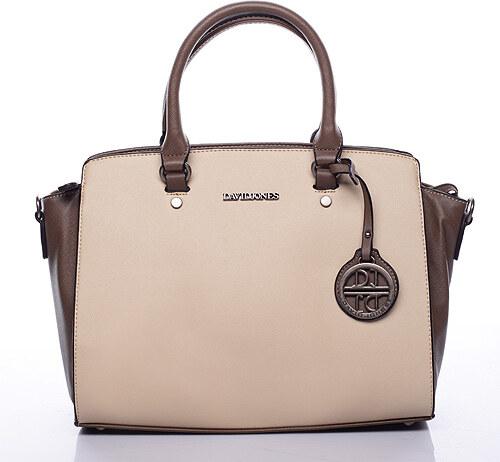 Béžová-taupe luxusní kabelka do ruky David Jones Kabo béžová - Glami.cz 251408c68f7