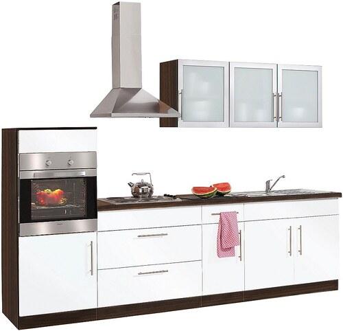 Küchenzeile »Aachen«, mit E-Geräten, Breite 290 cm
