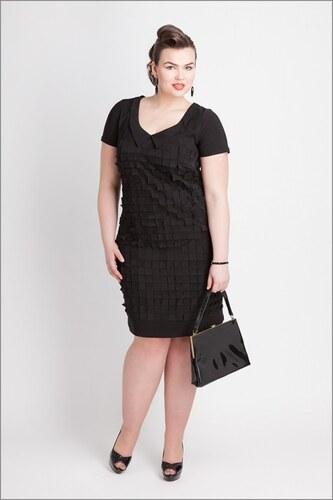 6171298b4626 Luxusní koktejlové šaty pro plnoštíhlé 29811 Emma - Glami.cz