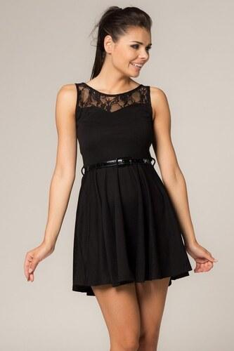 b06c7c1df590 Malé černé elegantní šaty s krajkou Depare - Glami.cz