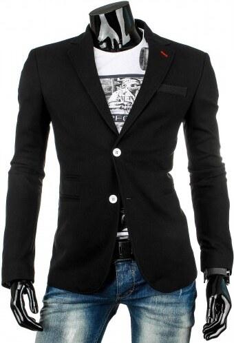 Pánské sako Rothe černé - černá