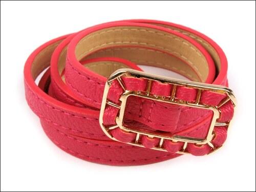 Jemný růžový pásek s proplétanou sponou
