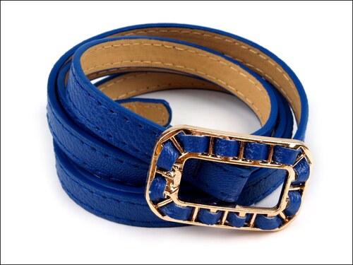 Jemný modrý pásek s proplétanou sponou