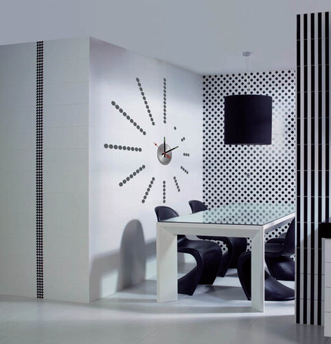 Nalepovací nástěnné hodiny - Points - 10A022