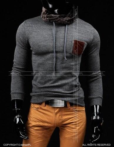Pánský svetr Tripol tmavě šedý - šedá