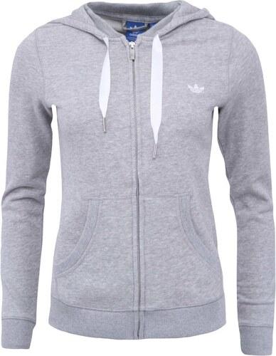 Šedá dámská mikina na zip adidas Originals - Glami.cz 94542a4db05