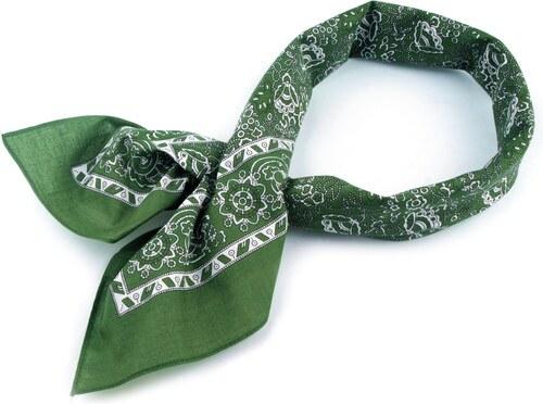 Bavlněný šátek kašmírový vzor Barva  ČERNÁ - Glami.cz 922e23402c