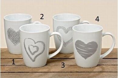 Hrnek HEART 4 druhy Styl 1
