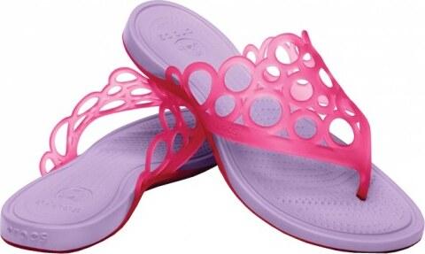 Crocs Růžovo-fialové žabky Adrina Bubbles Flip Candy Pink-Iris 14116-6Q9 39 e5e4a45178