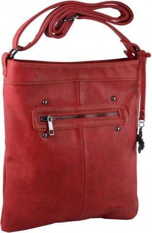 Le-Sands Elegantní červená crossbody kabelka 2745-2 - Glami.cz e5cf11134ee