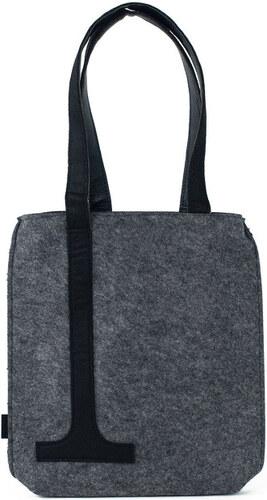 Art of Polo Dámská filcová kabelka Shopping Grey Black - šedá tr15120.5 5ac8a4eabe1