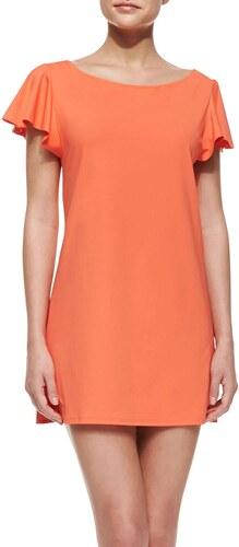 MICHAEL KORS šaty Flutter-oranžová-S