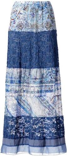 c71eb127b43 LINEA TESINI dámská šifonová sukně s krajkou