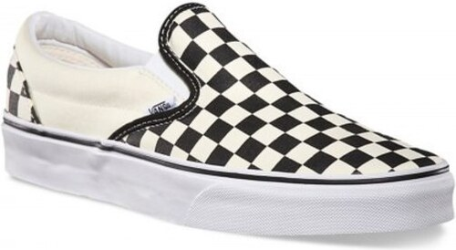 f55ea66a68a Dámské boty Vans Classic slip-on black and white checker white 38