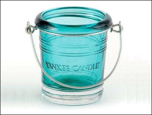 Svícen Glass Bucket modrý na votivní svíčku