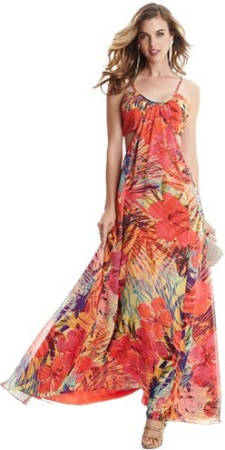 860911fc3 Šaty Guess by Marciano Hot House Hibiscus Maxi Dress - Glami.cz
