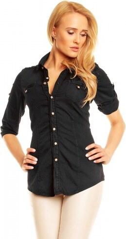 Dámská košile Merty černá - černá