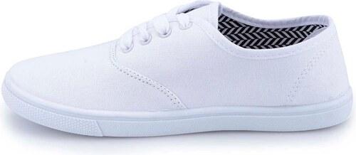 Bílé dámské plátěné tenisky Refresh - Glami.cz 40952fd37a8