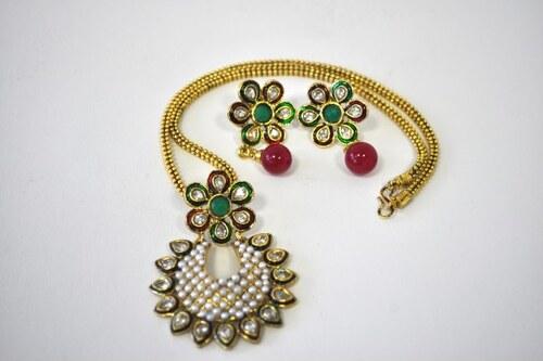 Indický náhrdelník NAVJGSGR