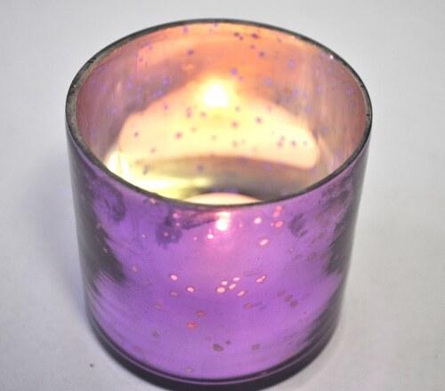 Skleněný svícen - Fresh pink JOWACHS
