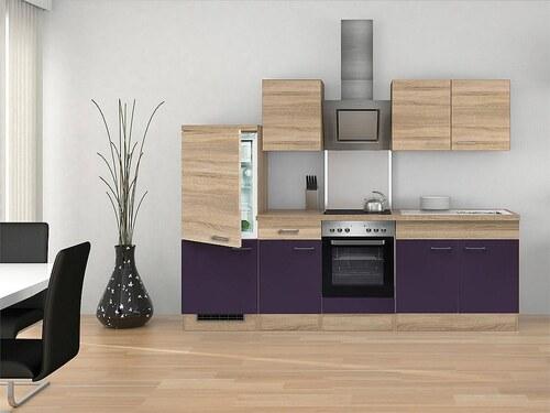 Küchenzeile mit E-Geräten »Rio«, Breite 270 cm, inkl. 2. Frontensatz gratis dazu