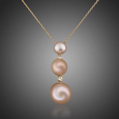 Pozlacený náhrdelník s perlou Niccia NAHRSW0055
