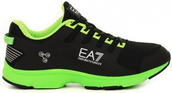 Ea7 Armani Logo Baskets Running - Noir bsEUQy3