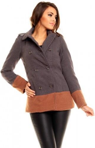 Dámský kabát Verdanne šedý - šedá