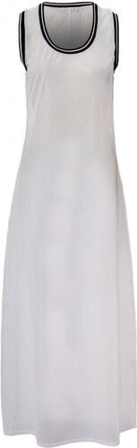 Dlouhé bílé síťované šaty styl RIHANNA