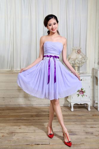 Společenské lila šaty pro družičky
