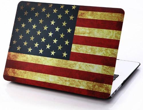 iPouzdro.cz Polykarbonátové pouzdro / kryt na MacBook Pro 13 - USA vlajka