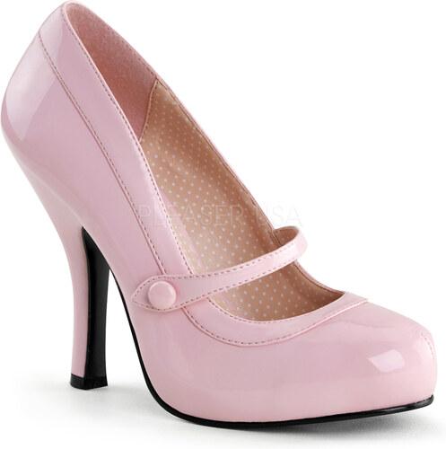 PINUPCOUTuRE Dámské lodičky PIN UP Retro Cuttipie 02 pink lakované Velikost   35 4bf095c940