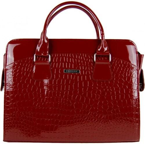 5228ddd8eb Dámska luxusná taška na notebook karmínový lak kroko ST01 15.6