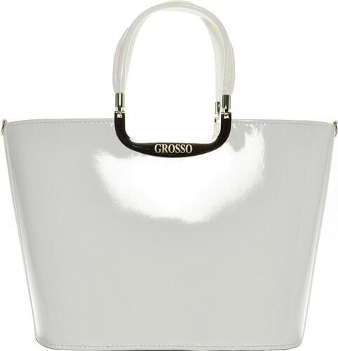 0e4234ddc2 Elegantná biela lakovaná kabelka S7 GROSSO - Glami.sk