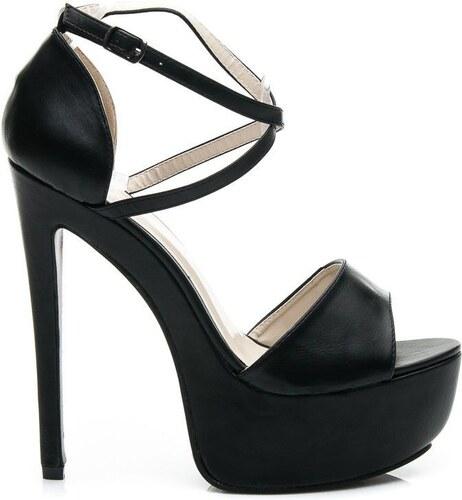 KOI Černé luxusní sandály na platformě 39 - Glami.cz 65ad9a4f51