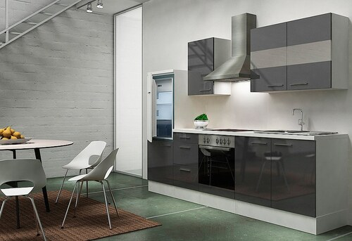 Küchenzeile mit E-Geräten »Emily«, Breite 270 cm, Korpus weiß