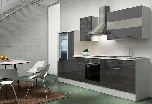 Küchenzeile mit E-Geräten »Emily«, Breite 300 cm, Korpus weiß