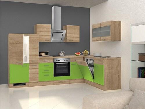 Winkel-Küchenzeile mit E-Geräten »Rio«, 310 x 170 cm, inkl. 2. Frontensatz gratis dazu
