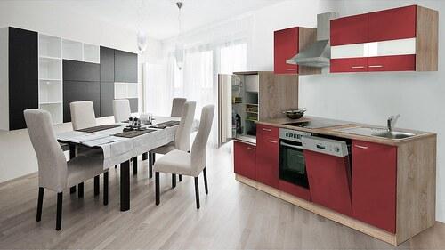 Küchenzeile mit E-Geräten »Anna«, Breite 280 cm, mit Glaskeramik-Kochfeld