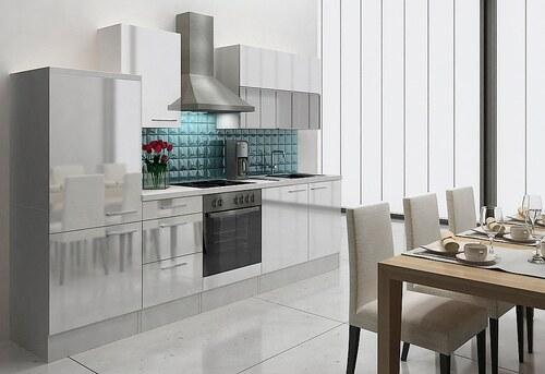 Küchenzeile mit E-Geräten »Lea«, Breite 280 cm, Korpus weiß - Set 1