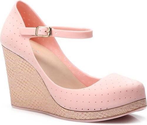 069479976be VICES Dámské boty na klínku Jelly Sue růžové Velikost  36