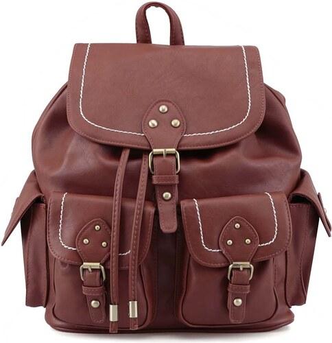 a3ca8675551 Hnědý koženkový batoh s kapsami New Look - Glami.cz