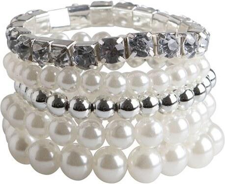 Bílo-stříbrné perličkové náramky Pieces Nanni - Glami.cz 058c969daa3